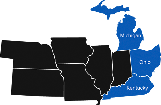 Our regions: Michigan, Ohio, Kentucky